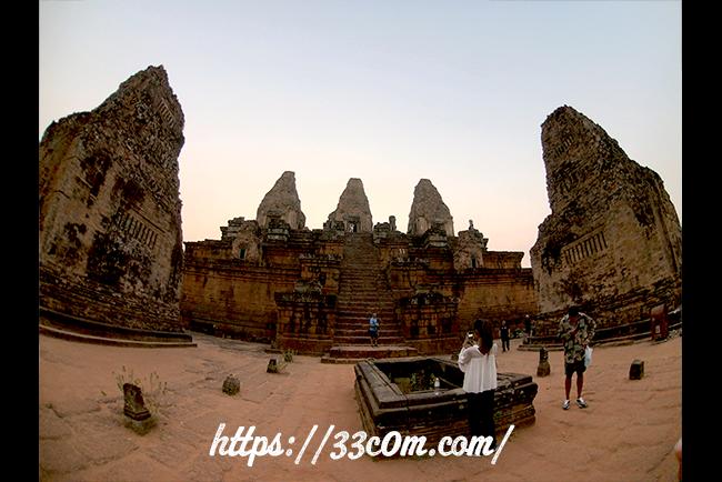 カンボジア旅行記_サンセット_3