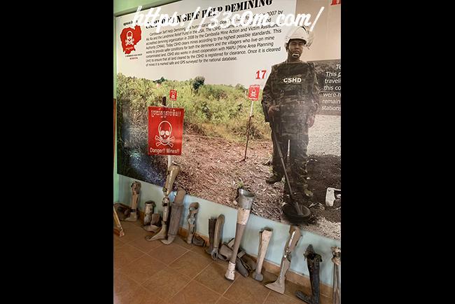 カンボジア旅行記_地雷博物館1